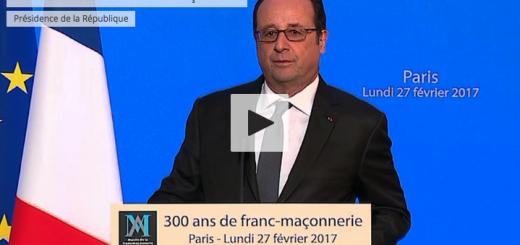 François Hollande - 300 ans franc-maçonnerie - Grand Orient GODF